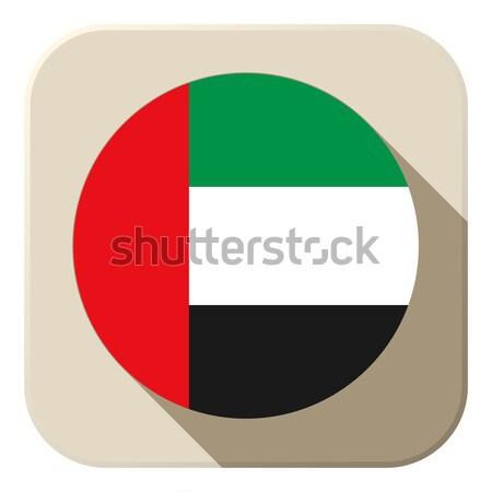 Объединенные Арабские Эмираты флаг кнопки икона современных вектора Сток-фото © gubh83