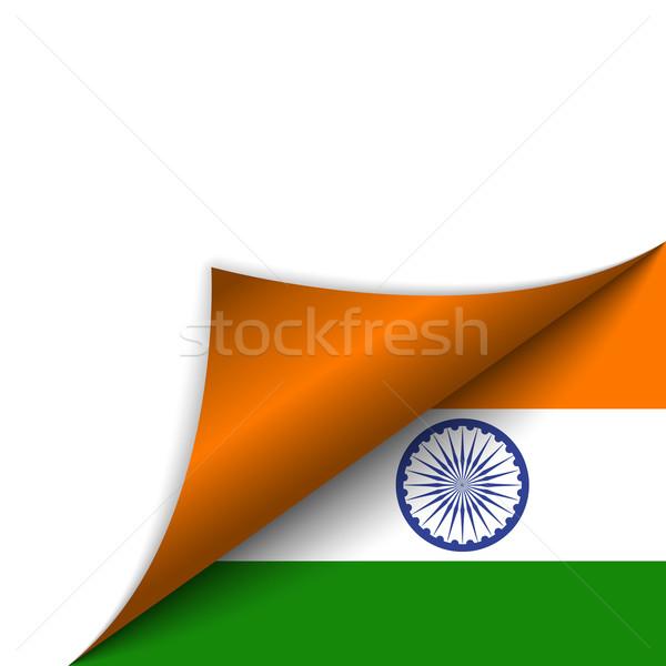 Indië land vlag pagina vector teken Stockfoto © gubh83