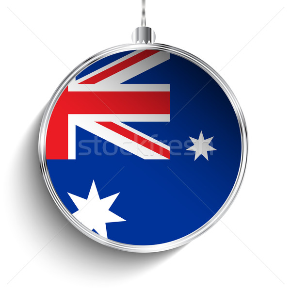 Joyeux Noël argent balle pavillon Australie Photo stock © gubh83