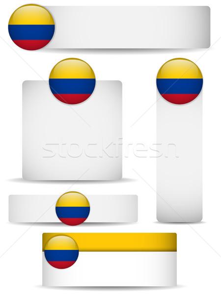 Colômbia país conjunto banners vetor negócio Foto stock © gubh83