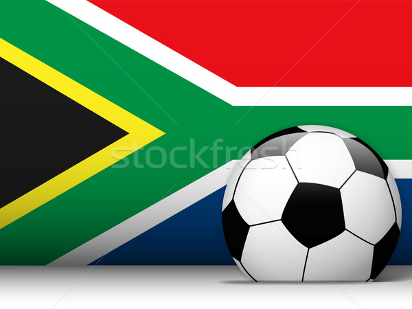 South Africa Soccer Ball with Flag Background Stock photo © gubh83