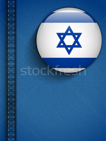 Israel bandeira botão jeans bolso vetor Foto stock © gubh83