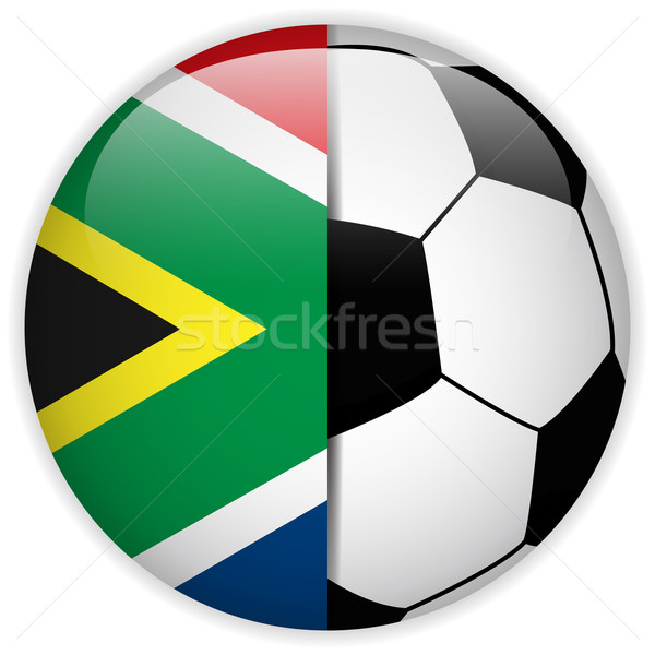 South Africa Flag with Soccer Ball Background Stock photo © gubh83
