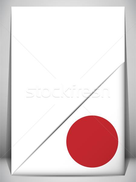 Giappone paese bandiera pagina segno viaggio Foto d'archivio © gubh83