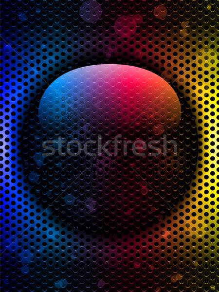 Colorful Hammered Metal Circle Stock photo © gubh83
