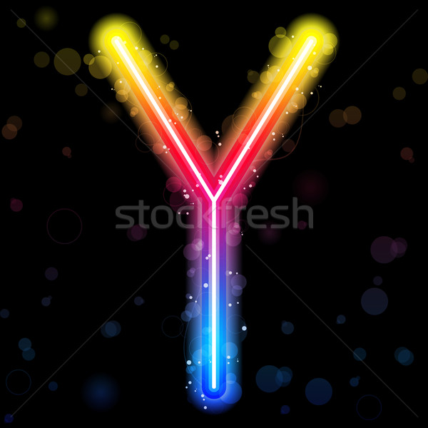 Alphabet Rainbow Lights  Glitter with Sparkles Stock photo © gubh83