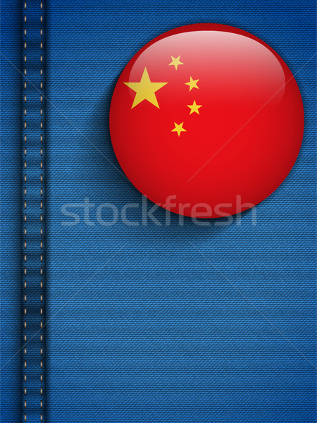 China Flag Button in Jeans Pocket Stock photo © gubh83
