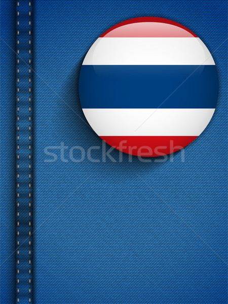 Thailand Flag Button in Jeans Pocket Stock photo © gubh83