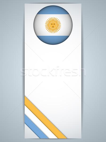 Argentina país conjunto banners vetor abstrato Foto stock © gubh83