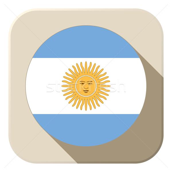 Argentina bandera botón icono moderna vector Foto stock © gubh83