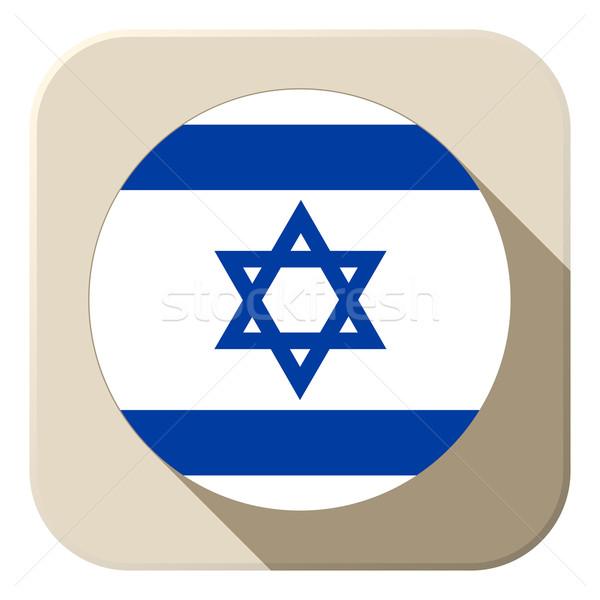 Israel bandeira botão ícone moderno vetor Foto stock © gubh83