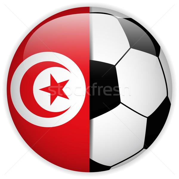 Тунис флаг футбольным мячом вектора Мир футбола Сток-фото © gubh83