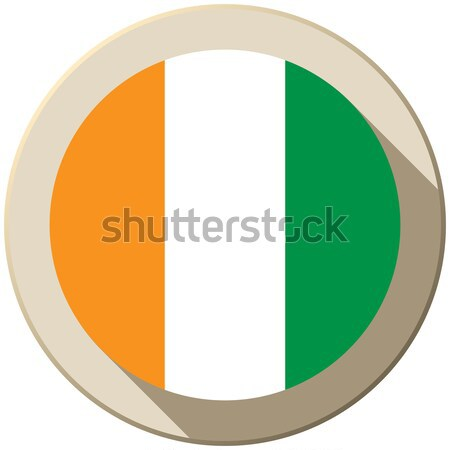 Ierland vlag knop icon moderne vector Stockfoto © gubh83