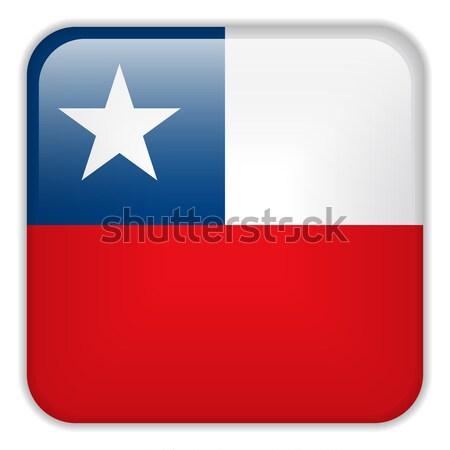 Chile zászló okostelefon alkalmazás tér gombok Stock fotó © gubh83