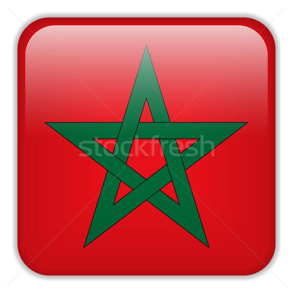 Marruecos bandera aplicación cuadrados botones Foto stock © gubh83