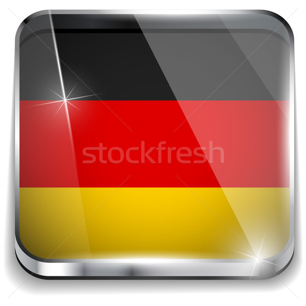 Germany Flag Smartphone Application Square Buttons vector