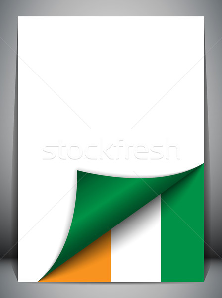 Ireland Country Flag Turning Page Stock photo © gubh83