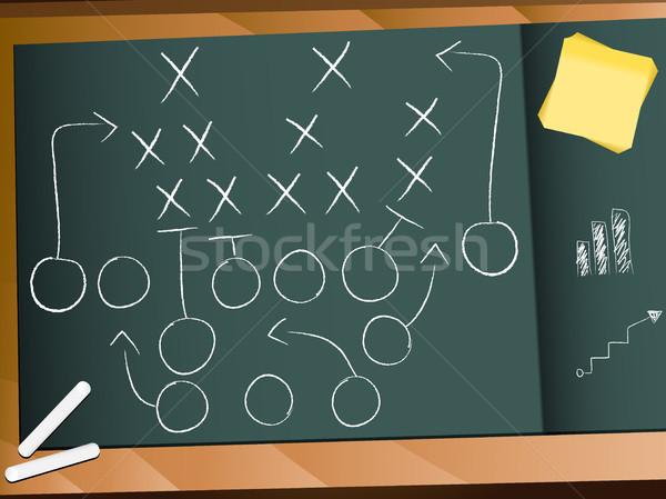 Trabalho em equipe jogo de futebol plano estratégia vetor esportes Foto stock © gubh83