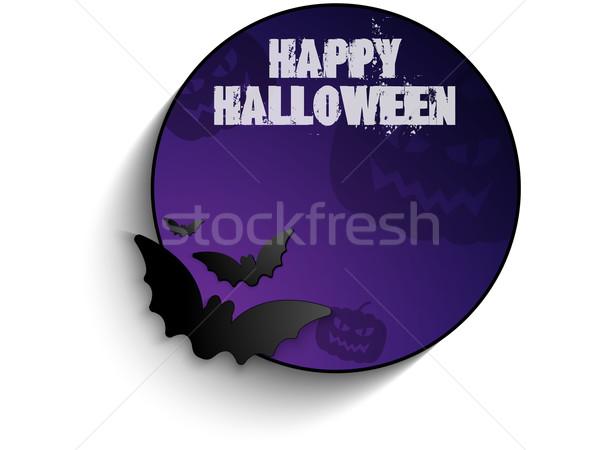 Wektora halloween bat kółko ramki dynia Zdjęcia stock © gubh83