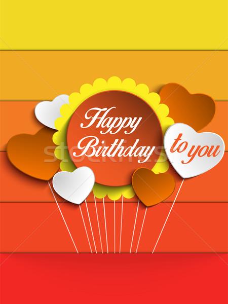 お誕生日おめでとうございます カラフル カード ベクトル 花 愛 ストックフォト © gubh83