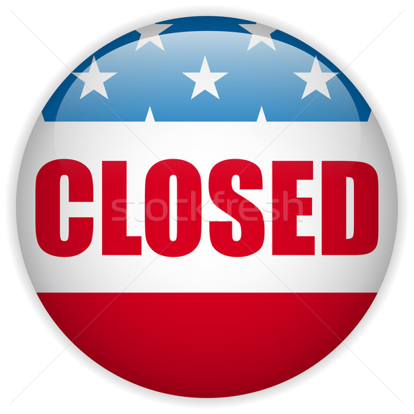 United States Shutdown Government Button Stock photo © gubh83