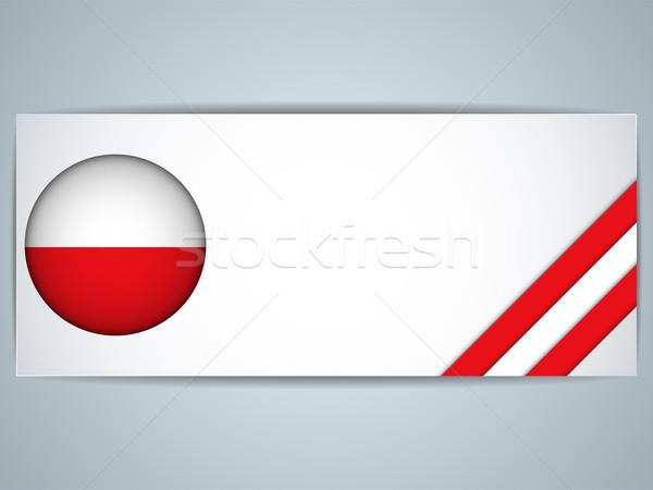 Polonya ülke ayarlamak afişler vektör iş Stok fotoğraf © gubh83