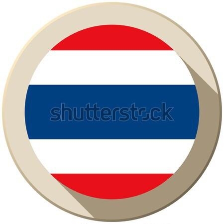 Tailandia bandera botón icono moderna vector Foto stock © gubh83