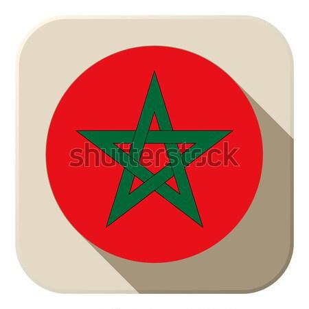 Marrocos bandeira botão vetor amor Foto stock © gubh83