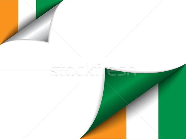 Ирландия стране флаг страница вектора знак Сток-фото © gubh83
