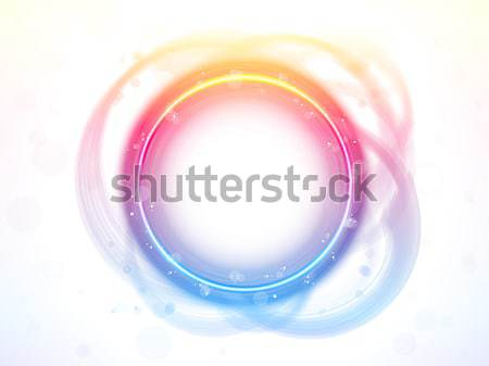 Rainbow Circle Border Brush Effect. Stock photo © gubh83