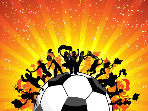 Huge Crowd Celebrating Soccer Game. Stock photo © gubh83