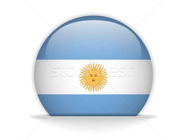 Argentina Flag Glossy Button Stock photo © gubh83