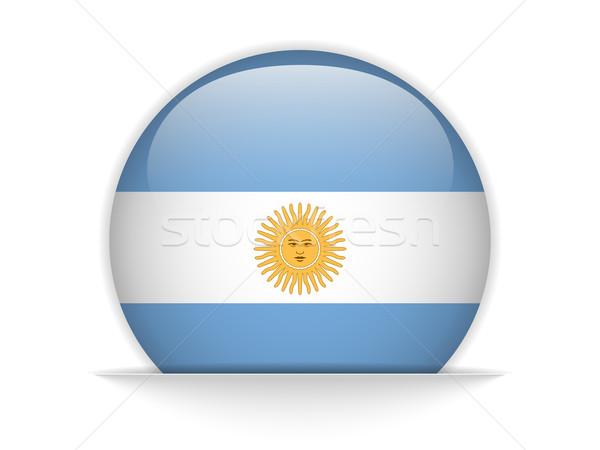 Argentína zászló fényes gomb vektor üveg Stock fotó © gubh83