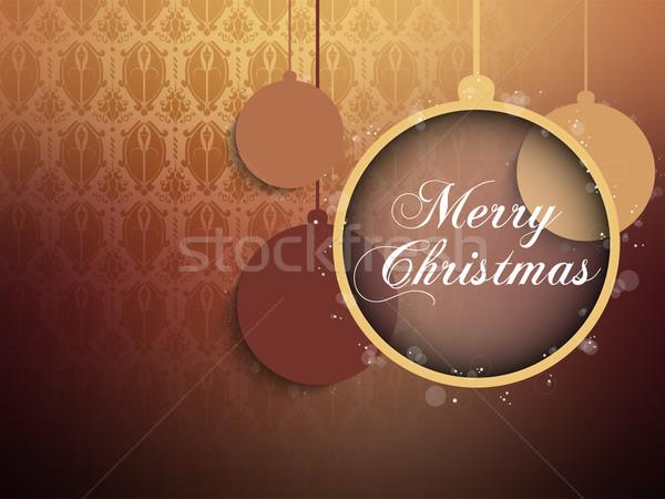 Alegre Navidad retro marrón pelota vector Foto stock © gubh83