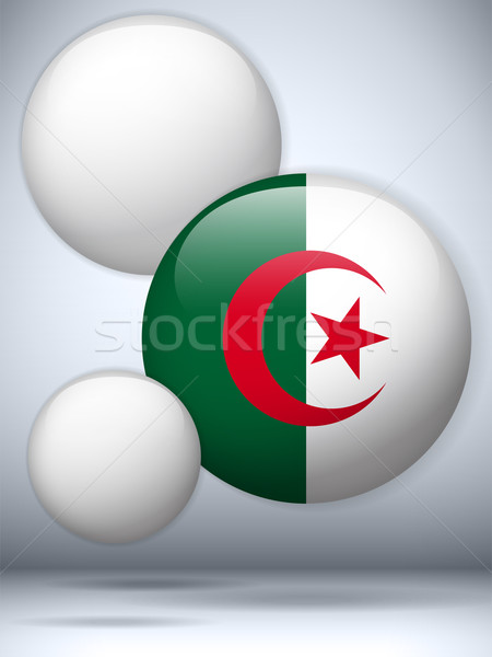 Argélia bandeira botão vetor vidro Foto stock © gubh83