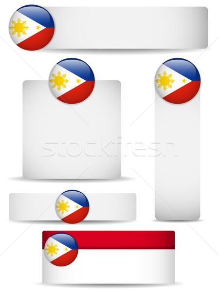 Philippines pays bannières vecteur affaires Photo stock © gubh83