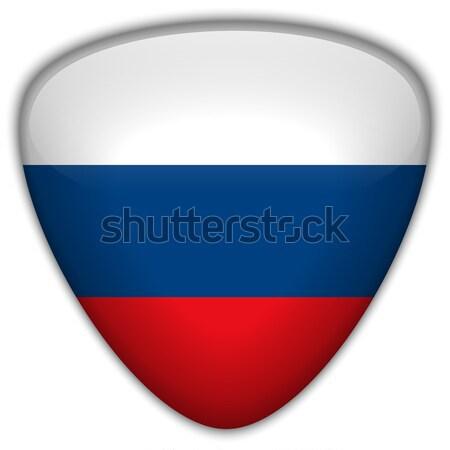 Rusia bandera botón vector vidrio Foto stock © gubh83