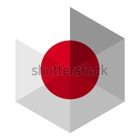 Japán zászló hatszög ikon gomb világ Stock fotó © gubh83
