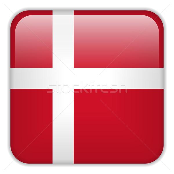 Dinamarca bandeira aplicação praça botões Foto stock © gubh83