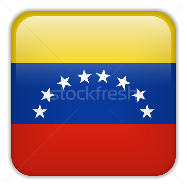 Venezuela zászló okostelefon alkalmazás tér gombok Stock fotó © gubh83