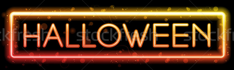 Halloween Neon Party Background Stock photo © gubh83