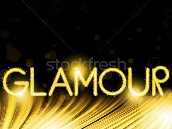 Lichten golf glamour gouden vector Stockfoto © gubh83