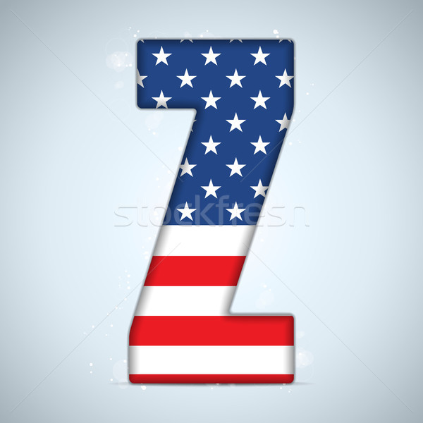 ABD gün alfabe harfler vektör doku Stok fotoğraf © gubh83
