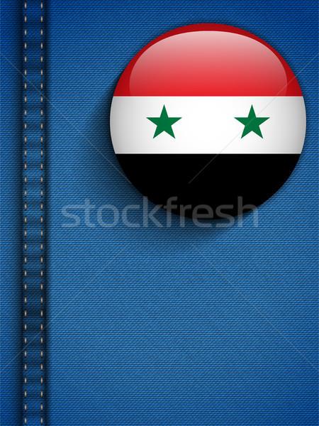 Syrië vlag knop jeans zak vector Stockfoto © gubh83