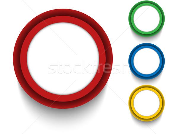 Szett színes gombok ikonok vektor négy Stock fotó © gubh83