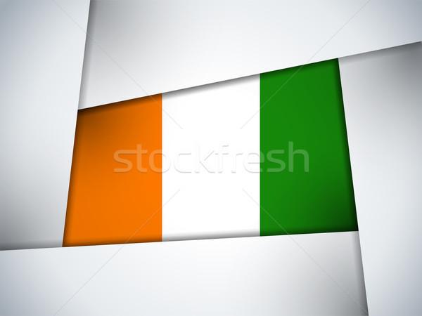 Irlanda país bandeira geométrico vetor negócio Foto stock © gubh83