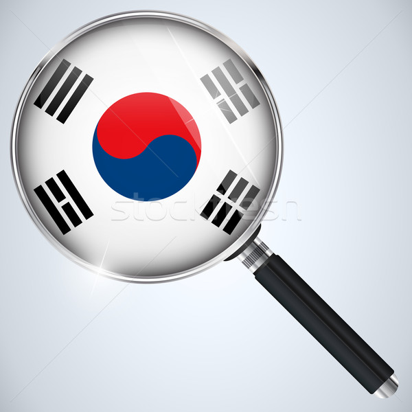 NSA USA Government Spy Program Country South Korea Stock photo © gubh83