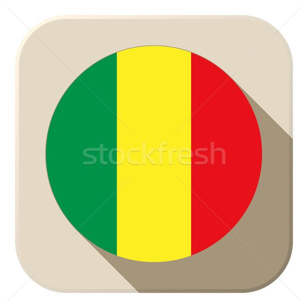 Mali bayrak düğme ikon modern vektör Stok fotoğraf © gubh83