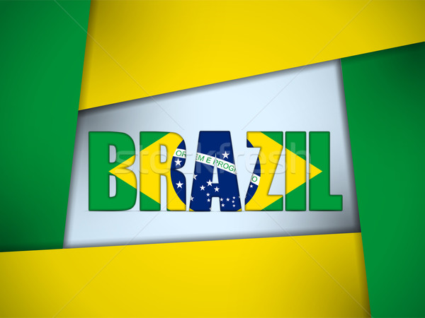 Brazil 2014 Letters with Brazilian Flag Stock photo © gubh83