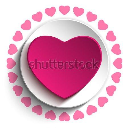 San Valentín día amor corazón rosa vector Foto stock © gubh83